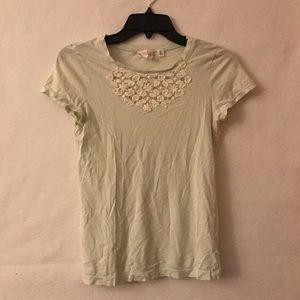 Anthropologie Hanger Crochet T Shirt